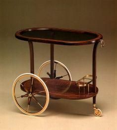 tea trolley in mahagoni masse 85 x 50 x h 71 cm