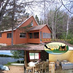 The Camp on Baldy Lake by Hiawatha's Vacation Homes enjoys a private, waterfront location on 10 acres in Hiawatha National Forest. #bookdirect #itscabintime #travelmichigan
