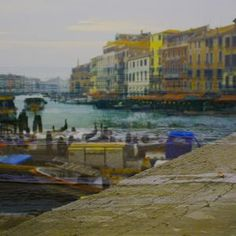 colorful venice with beautiful canal and boats