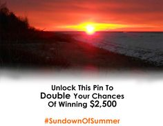 Unlock this Pin! Once we get 100 re-pins, we will unlock the Special Offer and give each Pin an extra entry into our $2500 Sundown for Summer Contest brought to you by DioGuardi Tax Law. The more you share this, the more chances you could win. Happy Pinning and Pin Daily!  http://www.dioguardi.ca/contest/