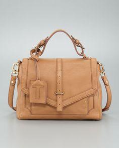 Tory Burch Medium Leather Satchel Bag, Tan