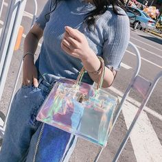Get those manage on your private gear with the dynamic roundup of top-handle backpacks. Holographic Fashion, Holographic Bag, Tan Tote Bag, Crossbody Bag, Satchel Handbags, Purses And Handbags, Disney Handbags, Lv Bags, Tote Bags