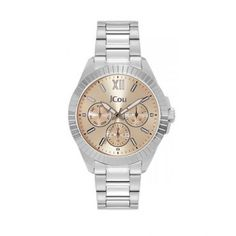 Γυναικείο οικονομικό ρολόι JCou JU19040-2 Aurora με ημερομηνία, ημέρα, μπεζ καντράν & μπρασελέ   Γυναικεία ρολόγια JCou ΤΣΑΛΔΑΡΗΣ στο Χαλάνδρι #jcou #Aurora #μπρασελε #tsaldaris Michael Kors Watch, Watches, Accessories, Wrist Watches, Wristwatches, Tag Watches, Watch, Watches Michael Kors