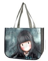 White Rabbit Shopping Bag Polypropylene bag that includes a handy little zipped purse, which is attached to the inside of the bag with a popper. Santoro London, Psychobilly, Shopper Tote, Fashion Sandals, Cute Bags, Victorian Gothic, Court Shoes, Cute Illustration, Drawstring Backpack