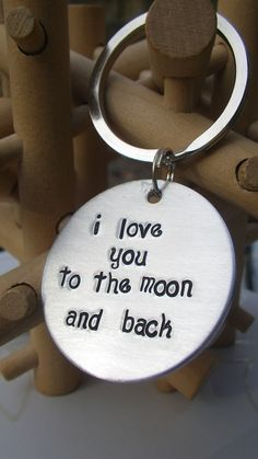 """I love you to the Moon and back"" ~ something for Alex with this stamped on it ~ it's our saying to each other. <3"