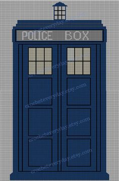 OMG it's a pattern for a crochet Tardis blanket! I must have it!!