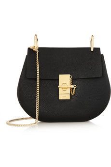 Chloé Drew medium textured-leather shoulder bag | NET-A-PORTER