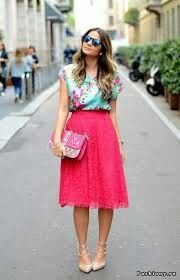 Pink and floral print