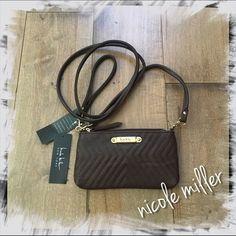 Nicole Miller Small Crossbody Bag Wristlest Coffee Brand new with tags!  Small Crossbody bag / Wristlet by Nicole Miller New York.  Color: Coffee. MSRP: $48 Nicole Miller Bags Crossbody Bags