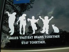 Zombie Family CarDecals - for those of us who detest the standard family car decals.