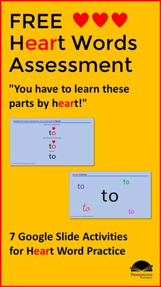 """This test is a great one to add to your back-to-school diagnostic assessment toolkit. Read the article, """"How to Teach Heart Words"""" and get your FREE Heart Words Assessment download. Response To Intervention, Reading Assessment, Reading Intervention, Teaching Reading Strategies, Reading Resources, Reading Comprehension, Vocabulary Instruction, Academic Vocabulary, Teaching Vocabulary"""