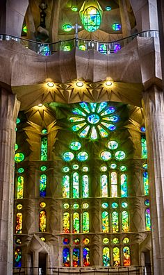 Stained glass of Gaudi s La Sagrada Familia, Barcelona, Spain by Mariluz  Rodriguez Alvarez Barcelona 60a58e0e72