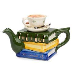 Tony Carter Books and Tea Teapot