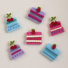 Cute Felt Birthday Stickers to Decorate Snack Bags, Set of 12 $3.99