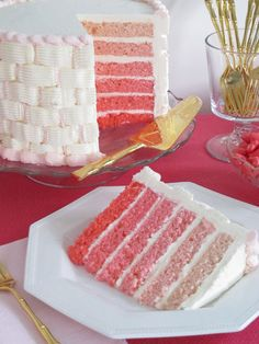 So pretty for a birthday cake, I would have flowers on top.The French Tangerine: ~ ombre cakes