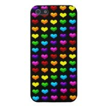 Unique, trendy and pretty rainbow theme iPhone 5. Beautiful green, yellow, orange, red, pink, purple, and blue hearts. Funky, romantic and whimsical design made for the gay or lesbian fashionista, the hip trend setter, nouveau vintage retro, modern abstract motif lover. Cute and fun gift for mom's birthday, Mother's day, Christmas. Original, classy, chic and cool case for the girly girl who loves colors. Also for iPhone 3 and 4, Samsung Galaxy S2 and S3, Motorola Droid Razr, iPod Touch