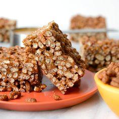 VIDEO: Chocolate Peanut Butter Brown Rice Crispy Treats