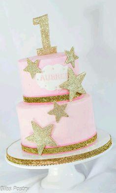 Cute 1st baby girl birthday cake