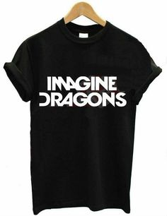 Imagine dragons shirt by HangerzOutfits on Etsy Black And White Tops, White Casual, Pentatonix, Imagine Dragons Shirt, Cool T Shirts, Funny Shirts, Top Tee, Dragon Print, Just In Case
