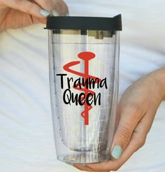 Trauma Nurse ER Nurse Travel Mug Tumbler by HmEmbellishments