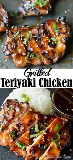 Teriyaki chicken is juicy and tender and smothered in the best sticky flavorful sauce. This will sure to become your new favorite! via chicken dinner Grilled Teriyaki Chicken Recipe-Butter Your Biscuit Chicken Teriyaki Rezept, Sauce Teriyaki, Grilled Teriyaki Chicken, Chicken Kabobs, Homemade Teriyaki Sauce, Grilled Chicken Tenders, Best Teriyaki Chicken Recipe, Best Grilled Chicken Marinade, Gourmet