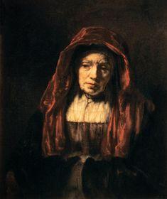 Afbeelding Rembrandt van Rijn Rembrandt van Rijn - Bildnis einer alten Frau (der Mutter des Künstlers)