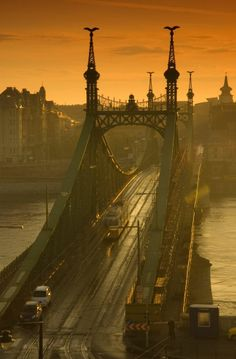 Liberty Bridge, Budapest (by SimonDKing) - All things Europe Places Around The World, Oh The Places You'll Go, Places To Travel, Places To Visit, Around The Worlds, Travel Destinations, Milan Kundera, Liberty Bridge, Budapest Hungary