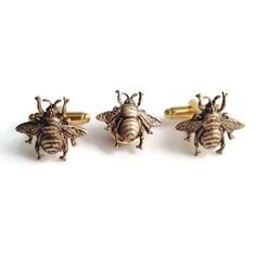 A personal favorite from my Etsy shop https://www.etsy.com/listing/125701378/mens-brass-bumblebee-cufflinks-tie-tack