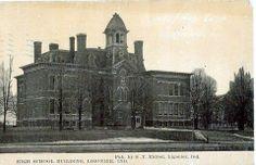 Ligonier Indiana, old high school building