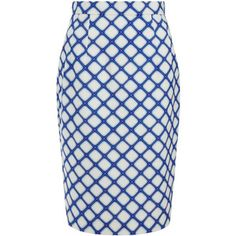 Jonathan Saunders Sally Blue Graphic Print Pencil Skirt