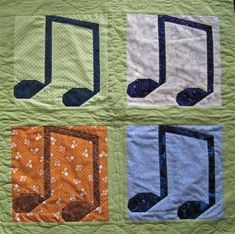 Musical Notes quilt - Pattern on Craftsy