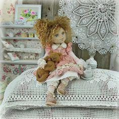 Купить Малышка Сью.  Кукла авторская - куклы, коллекционная кукла, розовый, кукла, шебби-шик