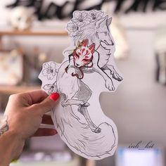 66 New Ideas Animal Art Drawing Awesome Kunst Tattoos, Body Art Tattoos, Tatoos, Fox Tattoos, Deer Tattoo, Raven Tattoo, Tattoo Ink, Arm Tattoo, Hand Tattoos