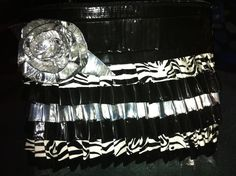 Black and White Duck Tape Purse