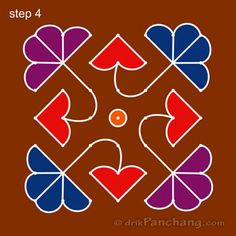 This page provides Dot Rangoli Designs and Patterns for Hindu festivals. In Tamil Nadu Rangoli is known as Kolam, Mandana in Rajasthan, Chowk Purna in Northern India, Alpana in West Bengal, Aripana in Bihar and Muggu in Andhra Pradesh. Indian Rangoli Designs, Rangoli Designs Flower, Small Rangoli Design, Rangoli Patterns, Rangoli Ideas, Rangoli Designs With Dots, Rangoli Designs Images, Flower Rangoli, Rangoli With Dots