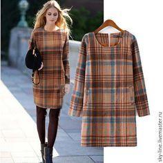 Платье осеннее - в клеточку / Autumn dress handmade