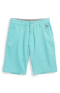 $37, Cotton Twill Shorts Aqua Blue 26 by Neff. Sold by Nordstrom. Click for more info: http://lookastic.com/men/shop_items/42952/redirect