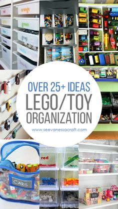 Over LEGO and Toy Organization Ideas for Kids and Parents! Informations Abo. Over LEGO and Kids Room Organization, Organization Station, Organisation Hacks, Household Organization, Lego Storage, Kids Storage, Organizing Your Home, Organizing Toys, Organizing Ideas