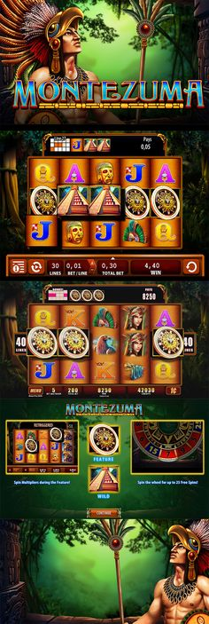 Play Montezuma slot for free at the SpinRoom. Try a free demo of the Montezuma video slot game by WMS or play for real and win for real. Online Gambling, Online Casino, Best Casino Games, Point Hacks, Montezuma, Free Slots, Slot Online, Slot Machine, Game Design
