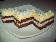 Prajitura cu nuca de cocos Romanian Desserts, Romanian Food, Croatian Recipes, Kakao, Homemade Cakes, Desert Recipes, Cookie Recipes, Sweet Treats, Deserts