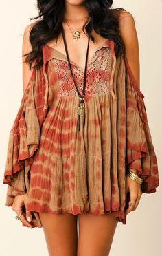 Lightweight Boho Front Detail Dress
