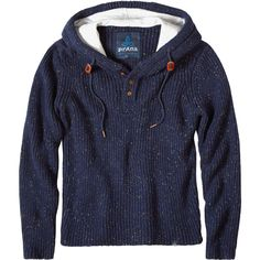 Prana - Henley Hooded Sweater - Men's  - Nautical