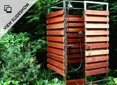 Install a prefab outdoor shower in a day