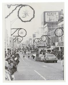 Winston-Salem Christmas Parade, 1970. Piedmont Airlines, Winston Salem North Carolina, Forsyth County, Hot Spots, American History, Fun Facts, 1960s, Holiday, Christmas