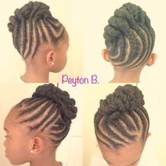 Braided/twisted updo Natural hairstyles for kids Natural hair Kids hairstyles  Braids Twists