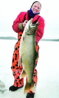 The largest ice fishing catch-and-release lake trout ever caught