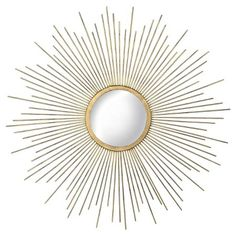 Metal Sunburst Mirror Aged Gold - Threshold™ : Target