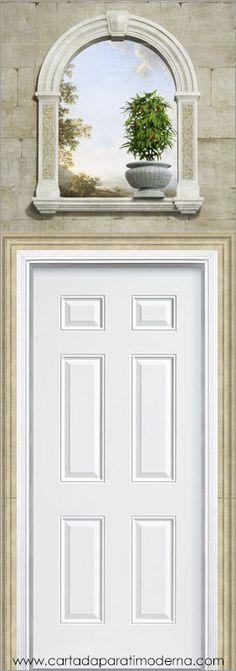 Trompe-l'oeil T-001 Garden Painting, Mural Painting, Mural Art, Painting On Wood, Wall Murals, Wall Art, Paintings, Art Decor, Decoration