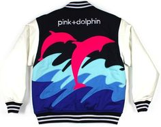 Pink Dolphin Jacket Dope Fashion, Urban Fashion, Pink Dolphin, Dope Outfits, High End Fashion, Hoodie Jacket, Hoodies, Sweatshirts, My Wardrobe