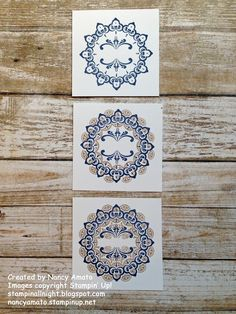 I absolutely love-love-love the Make A Medallion stamp set, one of the newest Sale-A-Bration products you can get for FREE with a qualifying...